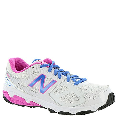 Athletic Shoes Youth (New Balance Kids 680v3 White/Blue Running Shoe 3 Kids US)