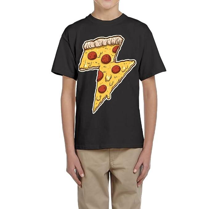 Fzjy Wnx Cool Thunder Cheesy Pizza Boys Short-Sleeved Shirts
