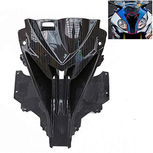 Motorcycle Carbon Fiber Fairing Shell Front Head Nose Cowl Air Intake Protective Cover for BMW S1000RR 2015-2018