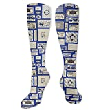 Modern American Soap Labels Compression Socks for Women and Men - Best Medical,for Running, Athletic, Varicose Veins, Travel.