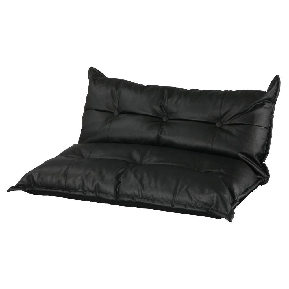ローソファ リクライニングソファ フロアソファ コンパクト ソファ ロー ソファーベッド 2人掛け ブラック B00UYSRQ2I ブラック ブラック