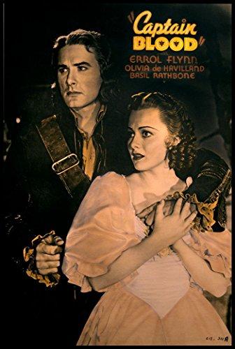 Captain Blood Fridge Magnet 2.5x3.5 Errol Flynn Movie Poster Magnetic Canvas Print