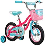 Schwinn Elm Girls Bike for Toddlers and Kids, 12-Inch Wheels, Pink
