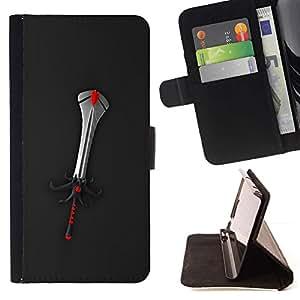 For HTC Desire 820 Case , Fantasía Espada- la tarjeta de Crédito Slots PU Funda de cuero Monedero caso cubierta de piel