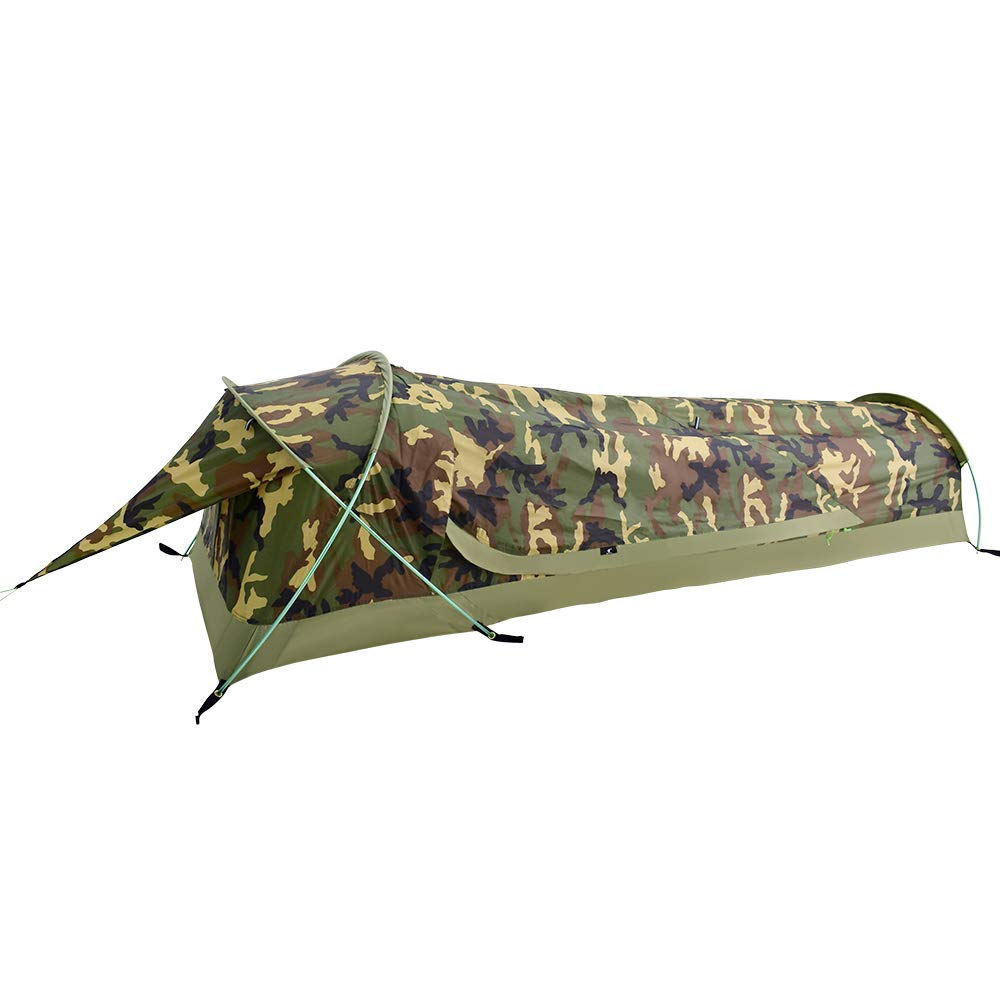 GEERTOP Ultralight 1-Person Waterproof Bivy Tent, Camouflage LTD