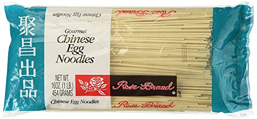 Chinese Egg Noodles (Rose Brand - Gourmet Chinese Egg Noodles 16 Ounce (Pack of 4))
