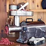 Weston 10-2201-W Pro Series #22 Meat Grinder-1.5 HP, Silver