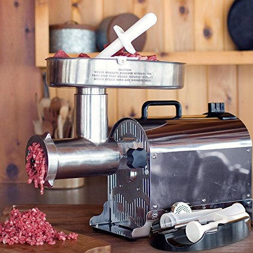 Weston 10-2201-W Pro Series #22 Meat Grinder-1.5 HP, Silver