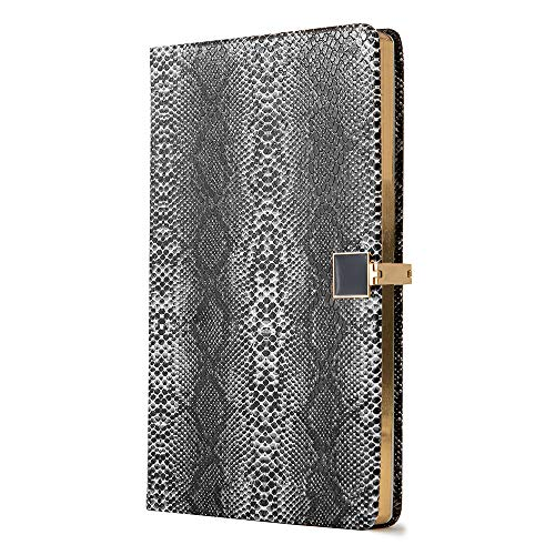 Dotted Grid Bullet Line Journal A5 Hardcover Notebook Premium Thick Paper with Pocket Banded Pen Loop, 100 gsm 160 Pages, 5.8 ''X - 100 Pen Page Journal