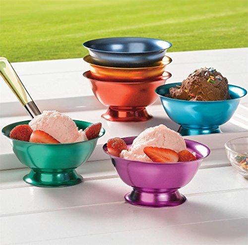 (Aluminum Ice Cream Bowls - Set of 6 )