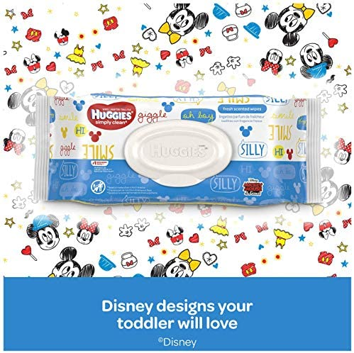 51V lA78F%2BL. AC - Huggies Simply Clean Unscented Baby Wipes, 11 Flip-Top Packs (704 Wipes Total)