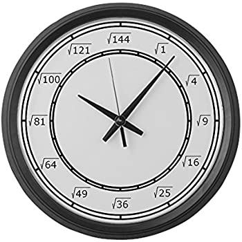 Amazon Com Cafepress Square Root Large 17 Round Wall Clock Unique