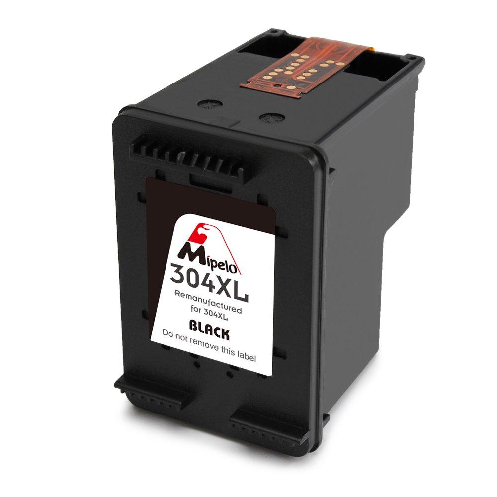 Mipelo Remanufacturado HP 304XL 304 Cartuchos de tinta Compatible con HP DeskJet 3720 3730 3733 Impresora (2 Negro)