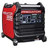 Predator 3500 Super Quiet Inverter Generator, Red