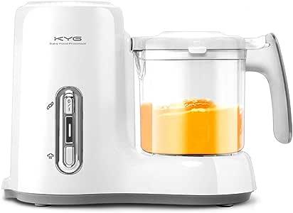 KYG Robot de Cocina al Vapor Procesador de Alimentos para Bebés 4 en 1 Máquina para Hacer Tritura, Descongela y Calienta: Amazon.es: Bebé