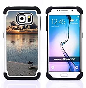 - Nature Beach Star/ H??brido 3in1 Deluxe Impreso duro Soft Alto Impacto caja de la armadura Defender - SHIMIN CAO - For Samsung Galaxy S6 G9200