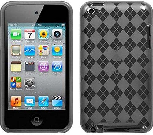 Premium TPU Flexi Soft Gel Skin for Apple iPod Touch 4th Generation, 4th Gen - Smoke Checkers Argyle -
