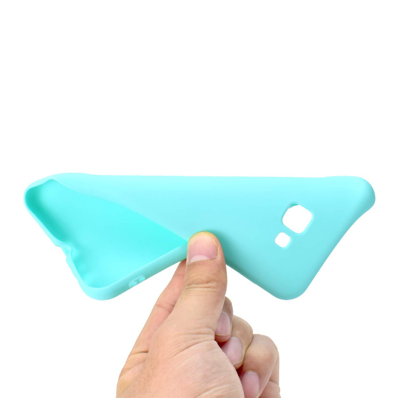 Bleu Case Cover Housse pour Femme Fille Homme CUAgain Coque pour Samsung Galaxy J4+//J4 Plus 2018 Silicone Mat Ultra Fine Antichoc Resistante Bumper Protection /Étui Galaxy J4+ 2018 Couleur Unie