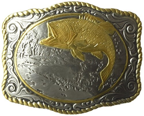 Nocona Men's Crumrine Multi Bass Scaloped Buckle, Color, One Size