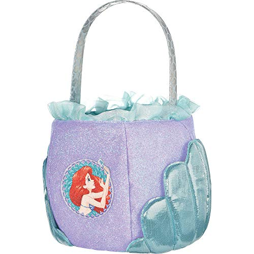 Suit Yourself The Little Mermaid Ariel Treat Bucket, Fabric Basket for Collecting Candy, Measures 6 Inches by 7 Inches