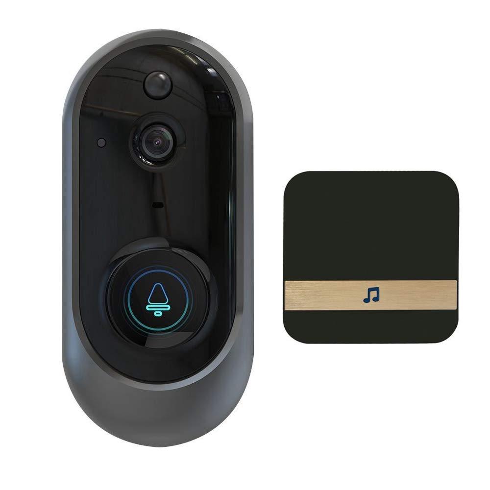 elegantstunning Intelligent Wireless WiFi Doorbell HD Camera IR Video Phone Intercom + Ding Dong Bell EU Plug -for ConsumerElectronics by elegantstunning