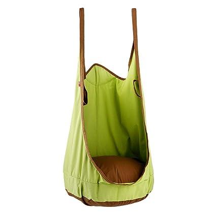 9250e96459d33 Amazon.com   HAPPY PIE PLAY ADVENTURE HappyPie Frog Folding Hanging Pod  Swing Seat Indoor and Outdoor Hammock for Children to Adult (Green)    Garden   ...
