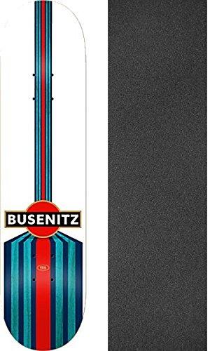 活性化する王室実施するリアルスケートボード Dennis Busenitz スピードスケートボードデッキ - 8.25インチ x 32インチ モブグリップ穴あきグリップテープ付き - 2個セット