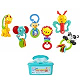 Fisher Price Musical Developmental Gift Toy Set For Baby with Hypoallergenic Baby Wipes