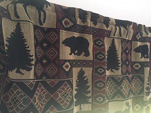 spring Home Tapestry Valance Rod Pocket Window Valance (Lodge)