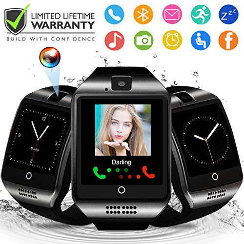 Smart Watch,Smartwatch for Android Phones, Smart Watches Touchscreen with Camera Bluetooth Watch Phone with SIM Card Slot Watch Cell Phone Compatible Android Samsung iOS Phone XS X8 7 6 5 Men Women (Cell Watch Phone Android)