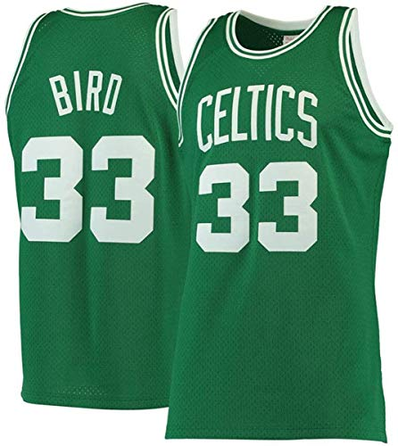 WSUN Basketbalshirt Voor Heren Larry Bird NBA-Jersey All Star Celtics # 33 Geborduurd Mesh Swingman-Shirt Unisex…