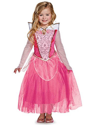 Aurora Deluxe Disney Princess Sleeping Beauty Costume, (Disney Princess Pink Dress)