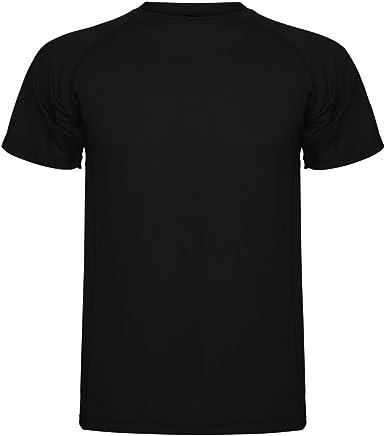 ROLY Camiseta técnica para Hombre Montecarlo, Negra: Amazon.es ...