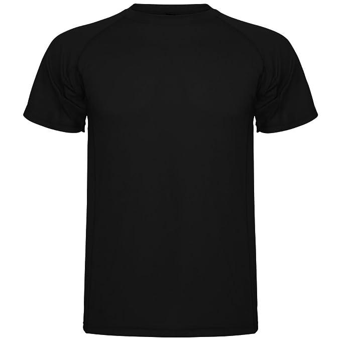 Roly Camiseta técnica para Hombre Montecarlo, Negra: Amazon.es: Ropa y accesorios