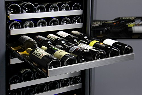 cabinet with mini fridge flexcount series 121 bottle dual zone freestanding wine 13088