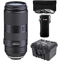 Focus Camera Tamron 100-400mm f/4.5-6.3 Di VC USD Lens for Canon EF Bundle