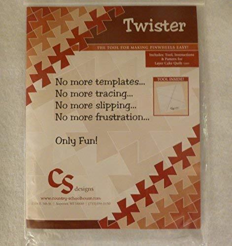 The Twister Original Pinwheel Quilt Template 10`` Squares supplier:susanegreen
