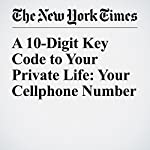 A 10-Digit Key Code to Your Private Life: Your Cellphone Number   Steve Lohr