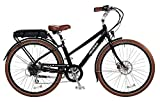 "Pedego City Commuter 28"" Step Thru Black with Brown Balloon Package 48V 10Ah"