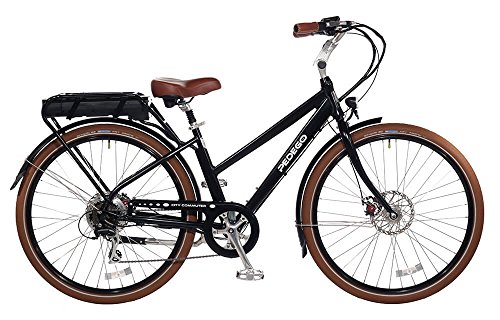 "Pedego City Commuter 28"" Step Thru Black with Black Balloon Package 48V 15Ah"