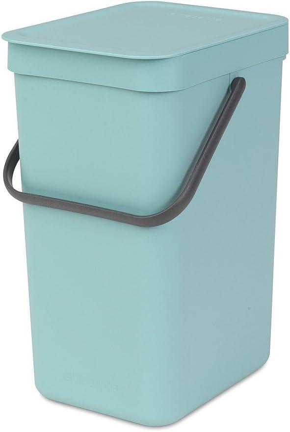 Brabantia Sort & Go Waste Bin, 12L/3.2 Gal. , 12 L, Mint