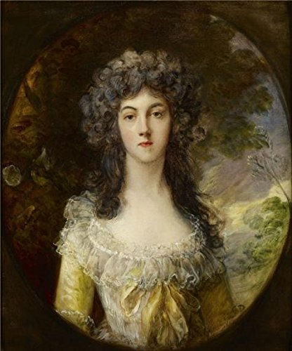 Oil Painting 'Thomas Gainsborough (attributed To) - Mrs.Charles Hatchett, C. 1786' Printing On High Quality Polyster Canvas , 18x22 Inch / 46x55 Cm ,the Best Bathroom Decor And Home Decoration And Gifts Is This Beautiful Art Decorative Canvas Prints