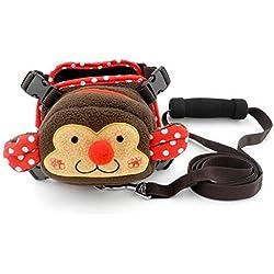 SMALLLEE_LUCKY_STORE Fleece Backpack Soft Mesh Harness Vest Leash Set for Mall Dog Cat, Monkey