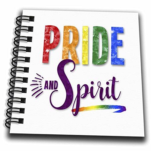 3dローズDoreen Erhardtレインボー–Pride and Spirit Typographicメッセージin Lgbtフラグ色–Drawing Book 4x4 notepad db_261482_3