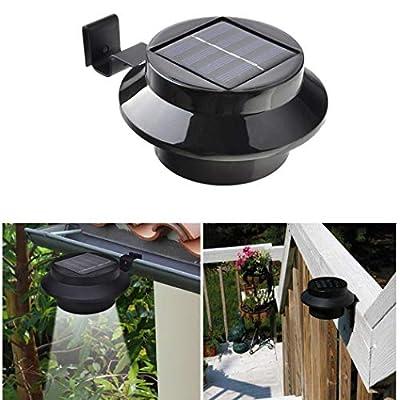 DREAMVAN Waterproof LED Sensor Control Solar Roof Light Outdoor Garden Fence Lamp Landscape Lighting & Accessories