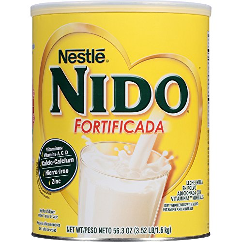 Nestle Nido Fortificada Dry Milk  3 52 Pound Canister