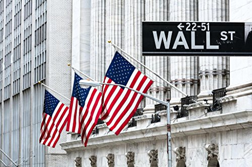 New York Stock Exchange Wall Street New York City Photo Art Print Poster 36x24 inch