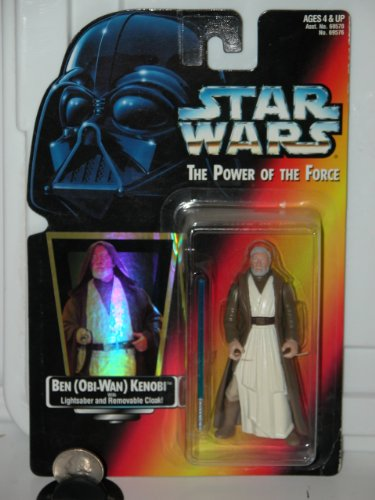 Removable Cloak - Star Wars Power of the Force 3.5 inch Action Figure - Ben (Obi-Wan) Kenobi with Lightsaber and Removable Cloak