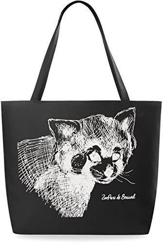 modische Einkaufstasche EKO �?Tasche mit Aufdruck Shopperbag Damentasche Beutel - Katze