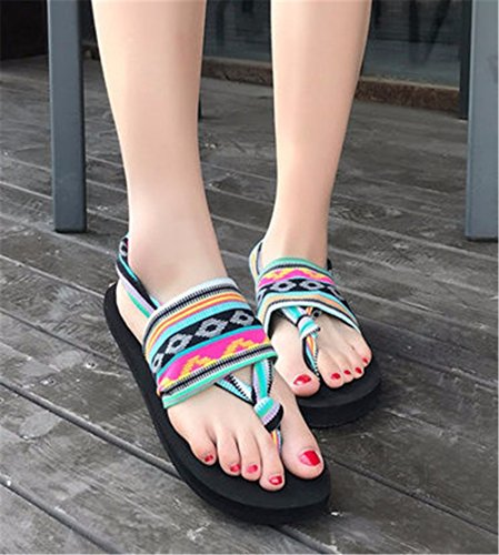 moda spiaggia da flip piedi da scarpe sandali scarpe YMFIE estivi flop Boemia c punta mare wP80qBH